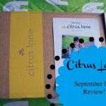 Citrus Lane //  September Box Review.