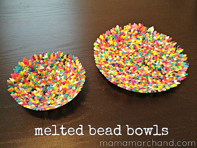 DIY Melted Bead Bowls: Mama Marchand's Nest