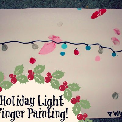 Holiday Lights Finger Painting