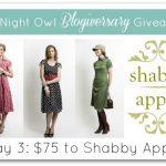 $75 to Shabby Apple w/ A Night Owl Blog!
