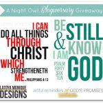 Latoya Monique Designs Giveaway w/ A Night Owl Blog