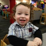 Wyatt's 1st trip to Chuck E. Cheese!