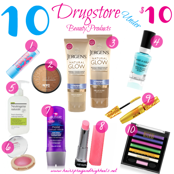 10 Drugstore Beauty Products Under $10