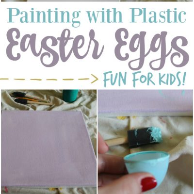 Plastic Easter Eggs: Toddler Painting!