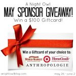 $100 Gift Card : A Night Owl Sponsor Giveaway