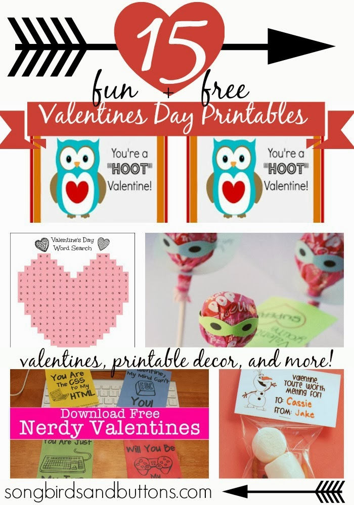 15 fun and FREE Valentine's Day Printables
