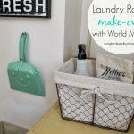 World Market Laundry Room Makeover