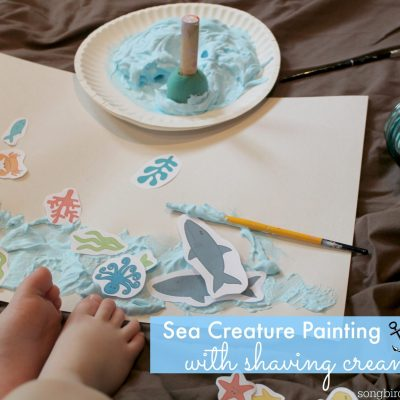 Sea Creature Painting – With Shaving Cream Paint!