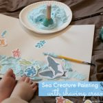 Sea Creature Painting – With Shaving Cream Paint!