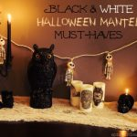 Black & White Halloween Mantel with World Market & Sweepstakes!