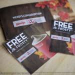 Wendy's® Jr. Frosty™ Halloween Coupon Book for Adoption