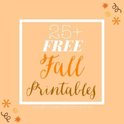 25+ FREE Fall Printables!