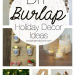 DIY Burlap Holiday Decor Ideas