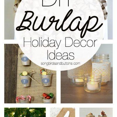 DIY Burlap Holiday Decor Ideas