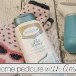 At home pedicure with Amopé