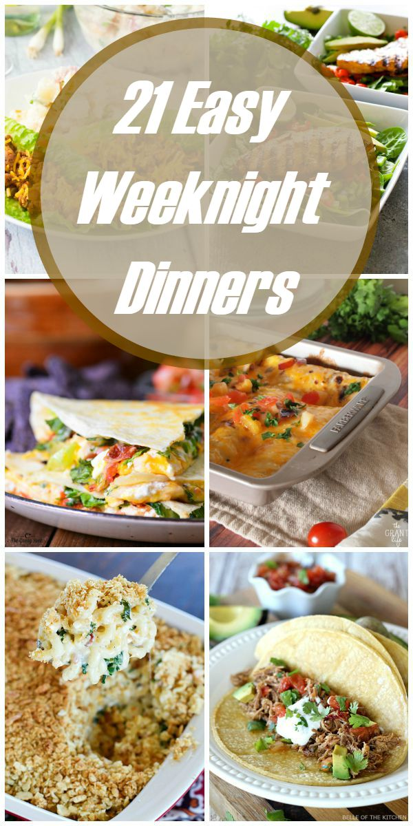 21 Easy Weeknight Dinners Kendall Rayburn