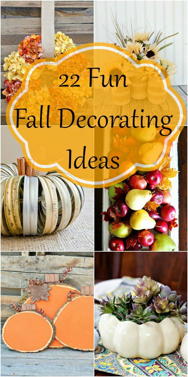 22 fun Fall decorating ideas