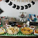 Rustic Football Party: Chip, Dip, and Suds Station
