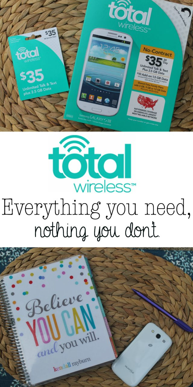 That's something that I genuinely love about Total Wireless, you're never over-sold. You'll get everything you need, and nothing you don't.