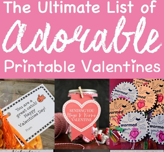 Adorable Printable Valentines