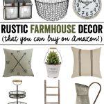 Rustic Farmhouse Decor (from Amazon!)