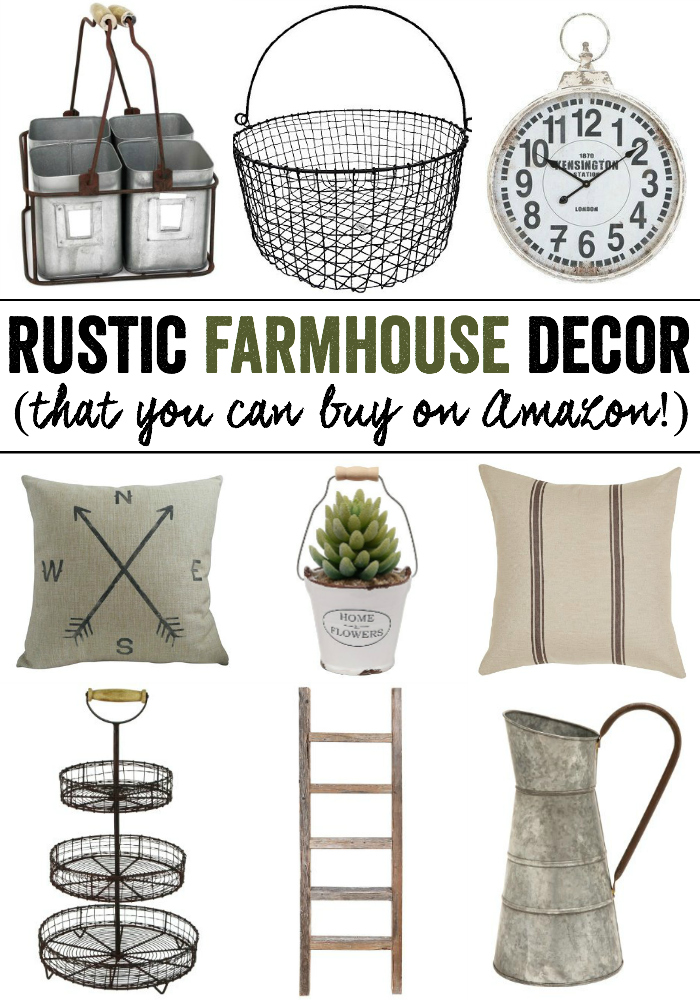 Rustic Farmhouse Decor from Amazon Kendall Rayburn