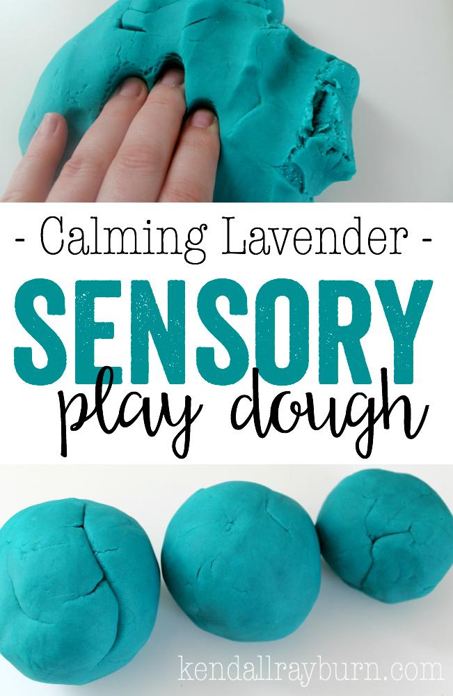 Calming Lavender Sensory Play Dough
