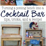 Turning a Potting Bench into a Cocktail Bar + Recipe