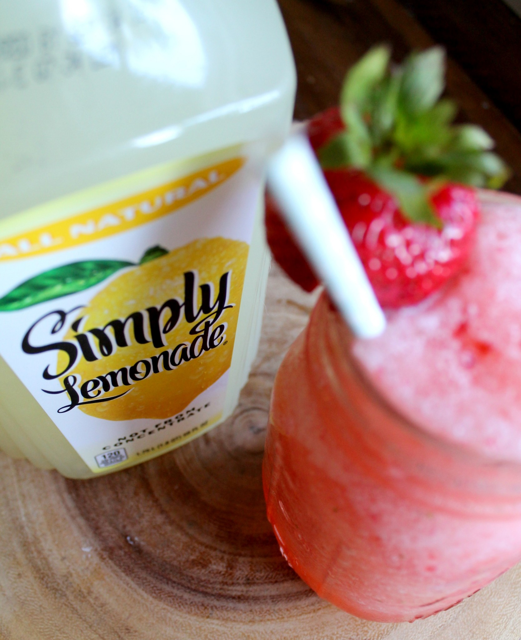 Three-Ingredient Strawberry Lemonade Slush