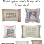 Farmhouse Pillows (That you can buy on Amazon!)