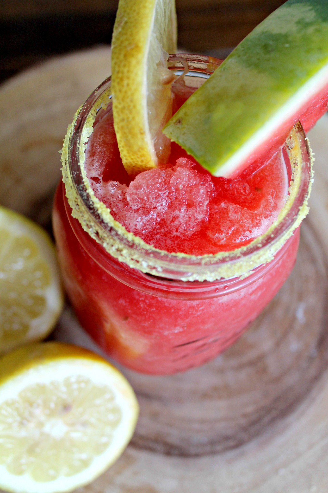 Watermelon Lemon Cocktail Slush