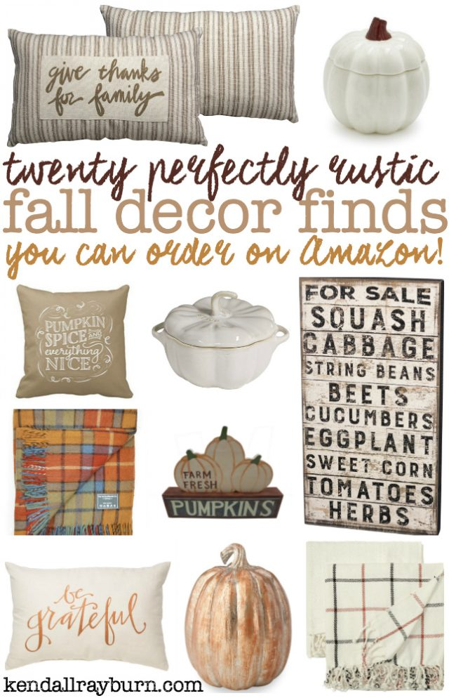 Perfectly Rustic Fall Decor Finds on Amazon
