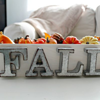Easy Rustic Fall Centerpiece + $100 Paypal Giveaway!