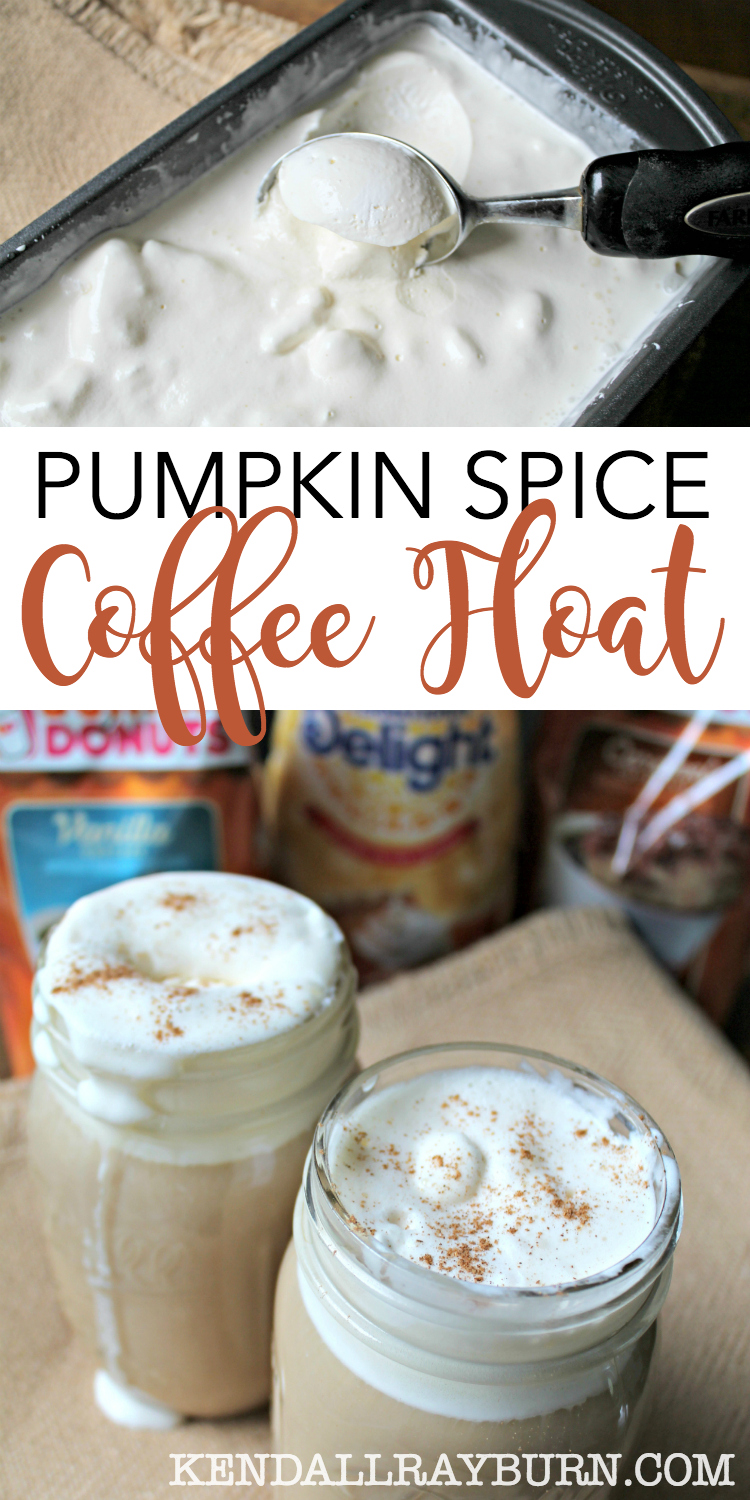 Pumpkin Spice Ice Cream Coffee Float - Perfect for Fall!