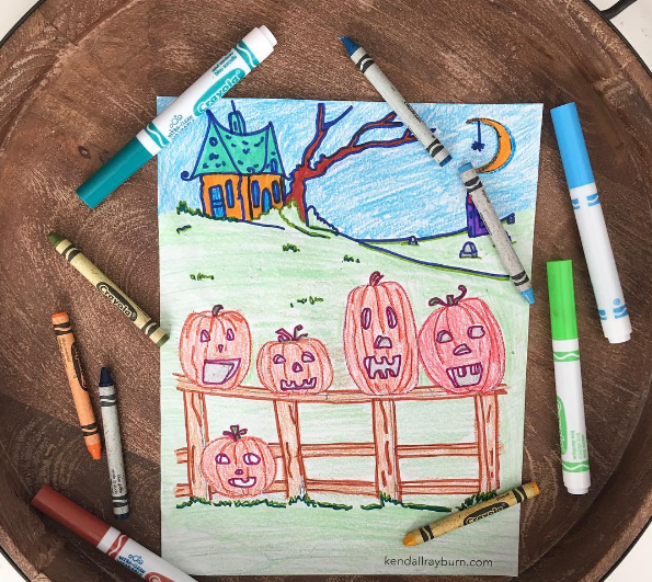 5 Little Pumpkins Coloring Sheet