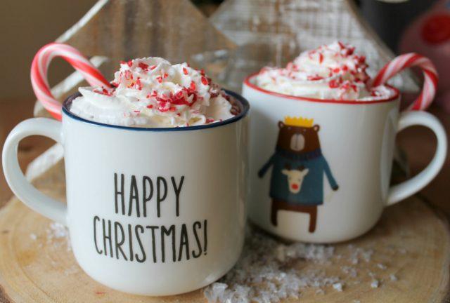 The Best EVER Crock Pot Peppermint Hot Chocolate