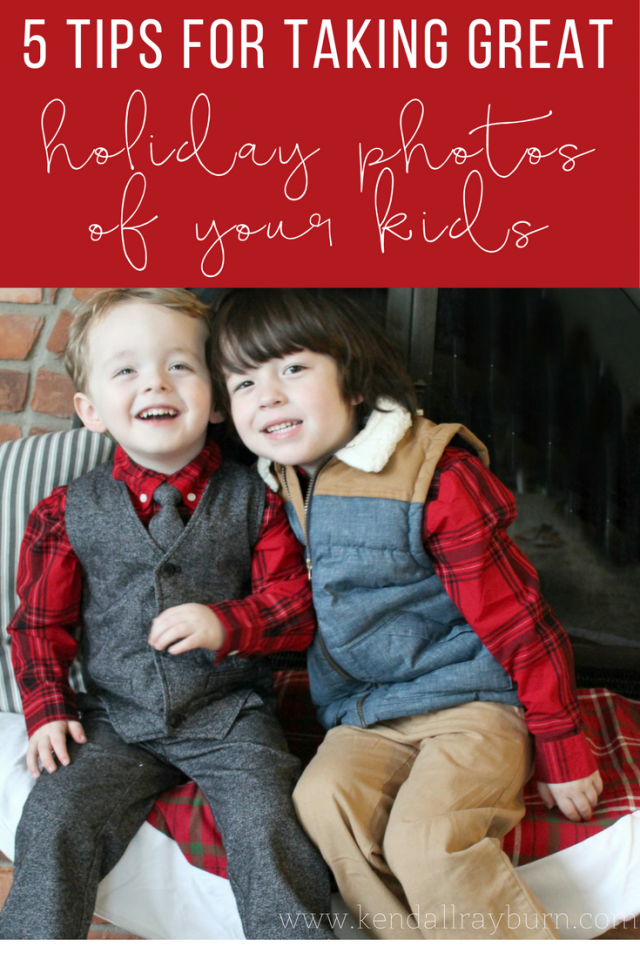5 Tips for Taking Great Holiday Photos of Your Kids