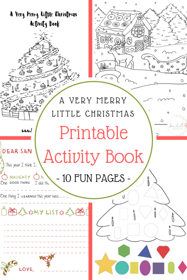 Zany image with printable christmas activities