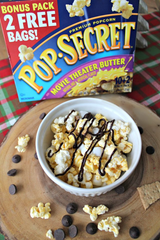 S'Mores Drizzled Popcorn