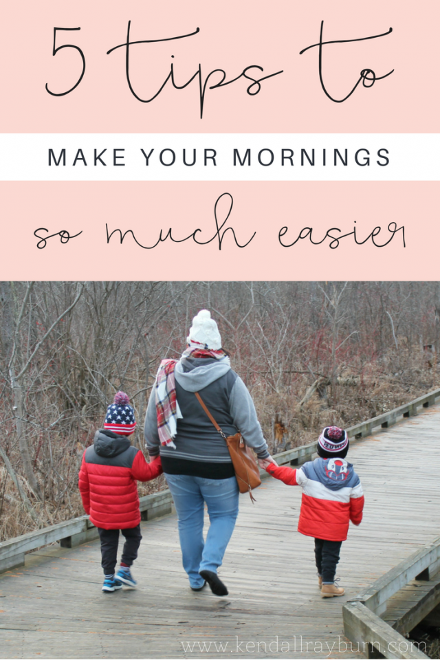 5 Tips to Make Your Mornings Easier