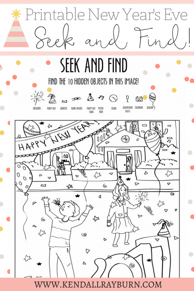 New Year's Eve Printable