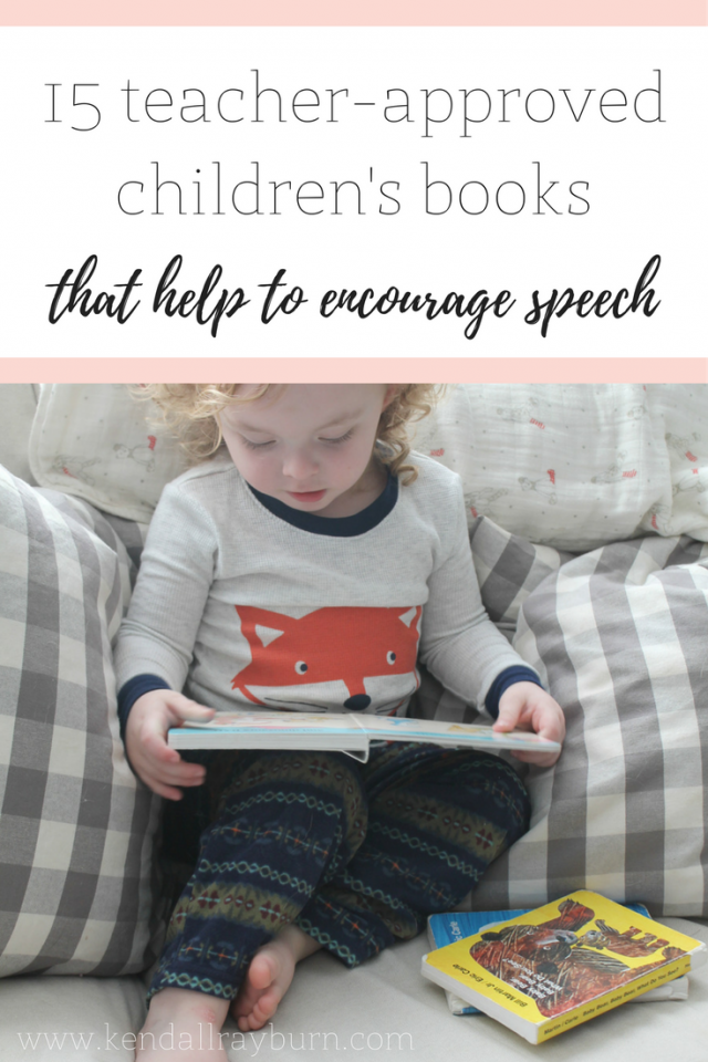 Children's Books that Encourage Speech