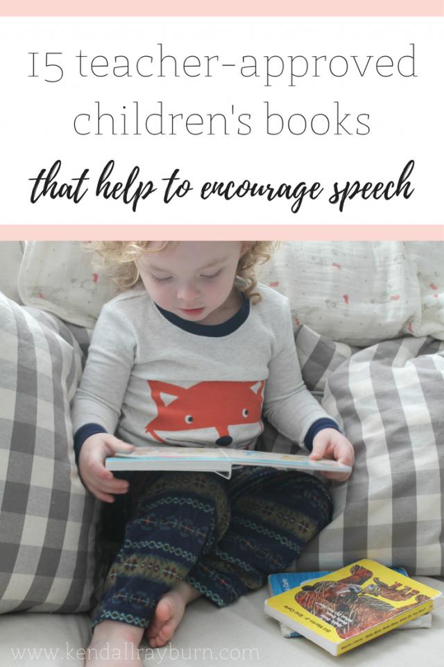 Children's Books that Encourage Speech