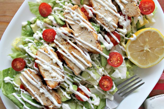 Loaded Lemon Pepper Chicken Salad