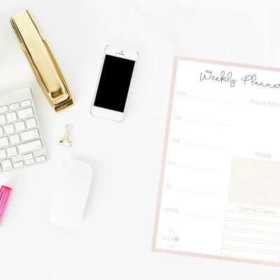 5 Ways to Keep Your Planner More Organized + Free Printable Weekly Planner