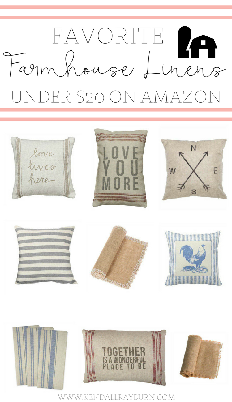 Friday Favorites | Affordable Farmhouse Linens on Amazon Under $20