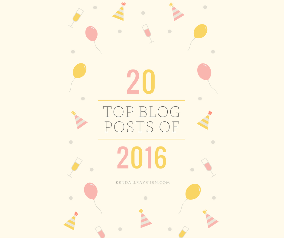 Top 20 Blog Posts of 2016