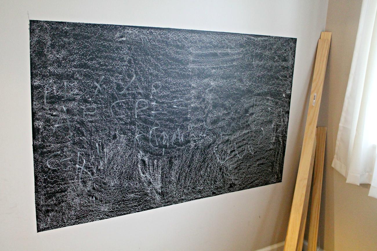 DIY Framed Chalkboard Wall