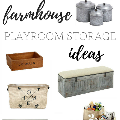 Farmhouse Playroom Storage | Farmhouse Friday