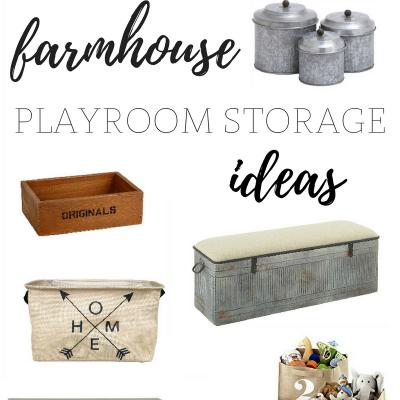 Farmhouse Playroom Storage | Farmhouse Friday